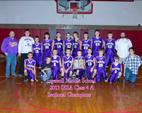 IMS 7th Grade Boys Basketball Sectional Champions 1/30/13